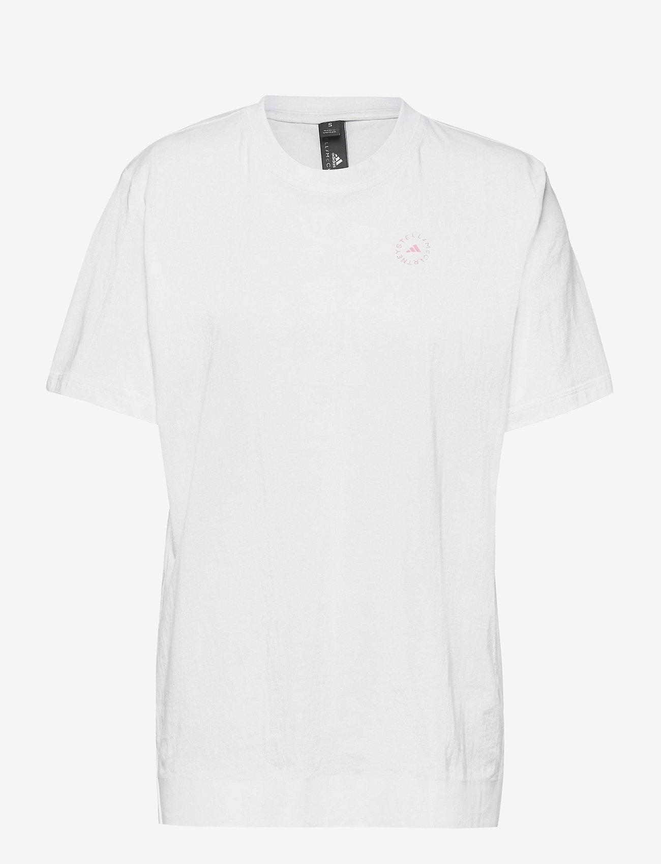 adidas by Stella McCartney - Cotton T-Shirt W - t-shirts - white/white - 1
