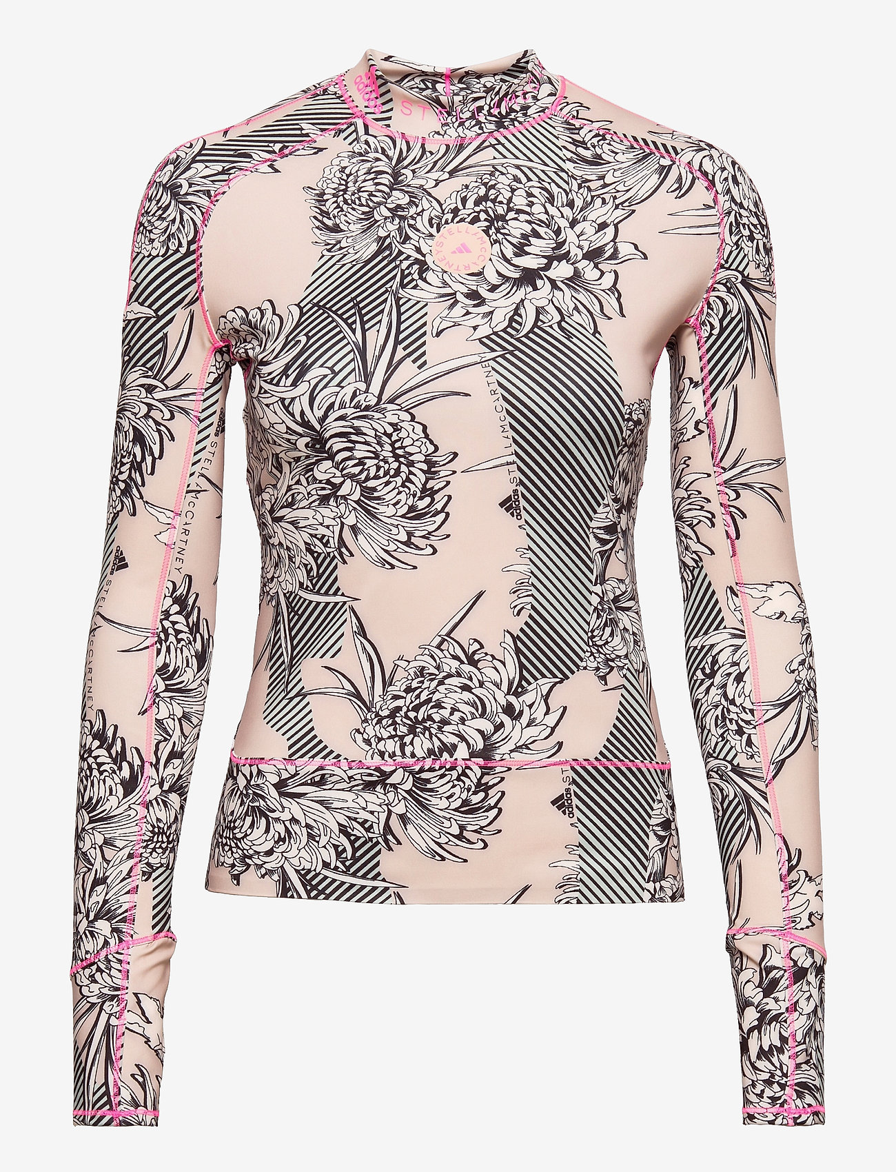 adidas by Stella McCartney - TruePurpose Allover Print Long Sleeve Shirt W - langærmede toppe - pnktin/pearos - 1