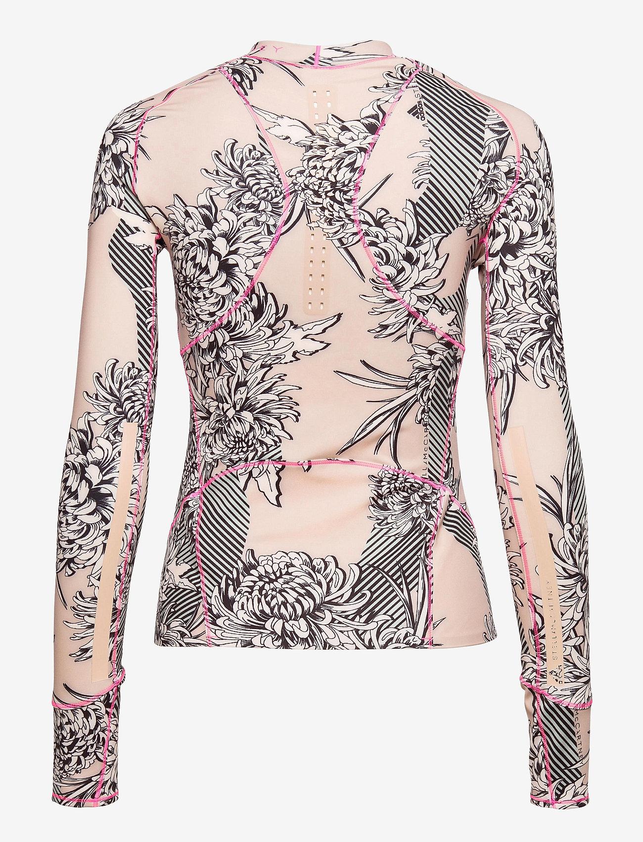adidas by Stella McCartney - TruePurpose Allover Print Long Sleeve Shirt W - long-sleeved tops - pnktin/pearos - 2