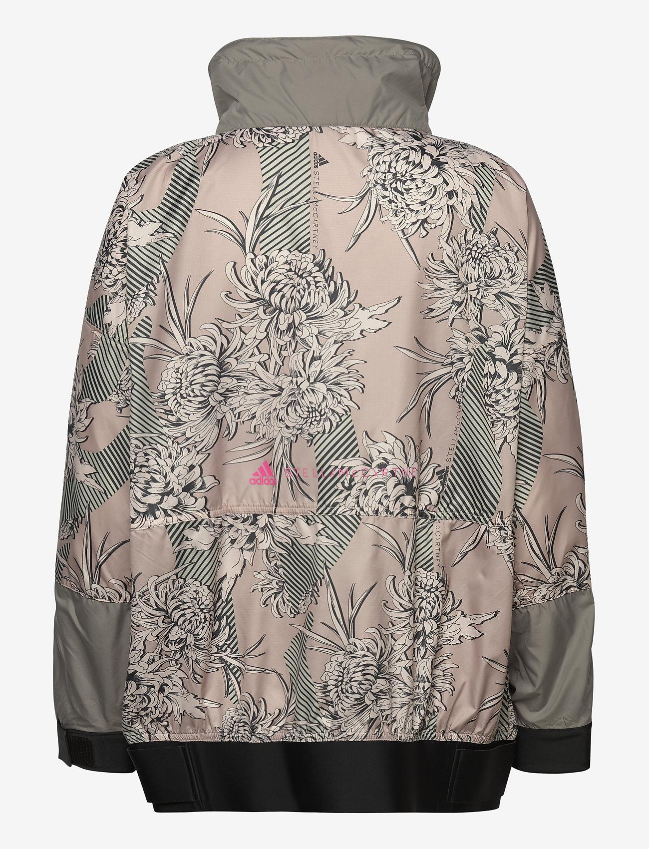 adidas by Stella McCartney - Future Playground Half-Zip Printed Jacket W - träningsjackor - pnktin/talc/pearos/bl - 2