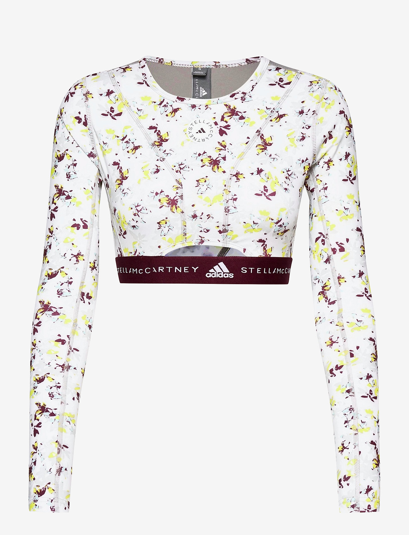adidas by Stella McCartney - Future Playground Long Sleeve Crop Top W - toppe og t-shirts - clowhi/pnktin/aciyel/ - 1