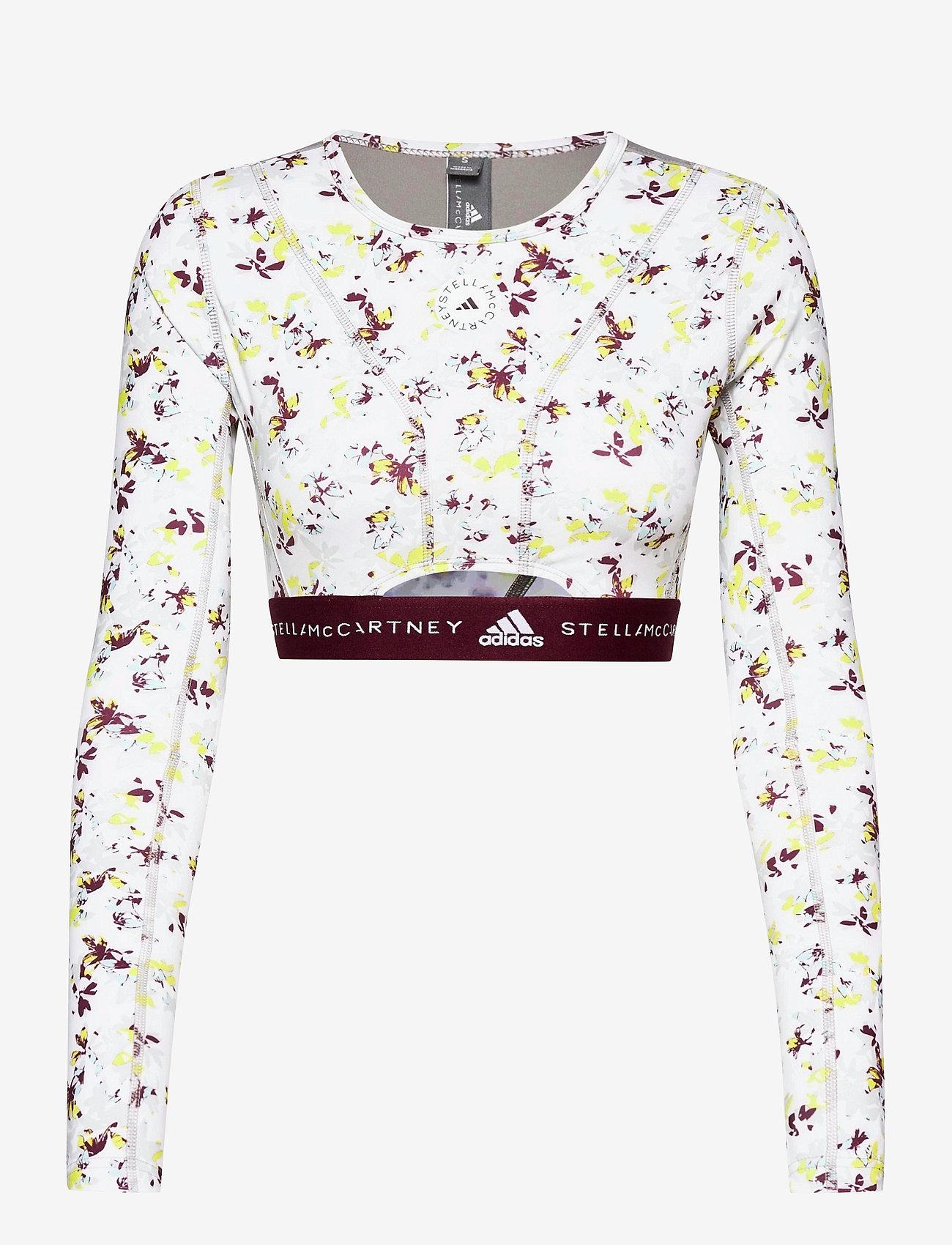 adidas by Stella McCartney - Future Playground Long Sleeve Crop Top W - tops & t-shirts - clowhi/pnktin/aciyel/ - 1