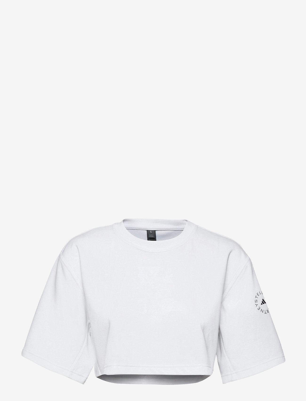 adidas by Stella McCartney - Future Playground Cropped T-Shirt W - toppe og t-shirts - white - 1