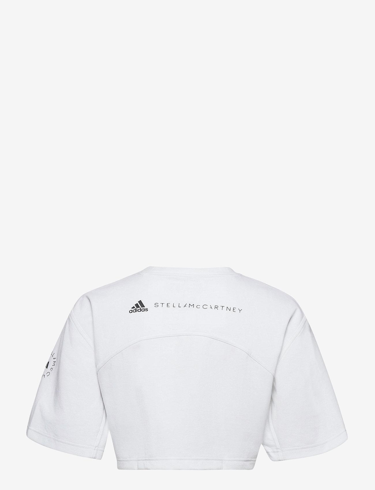 adidas by Stella McCartney - Future Playground Cropped T-Shirt W - crop tops - white - 2