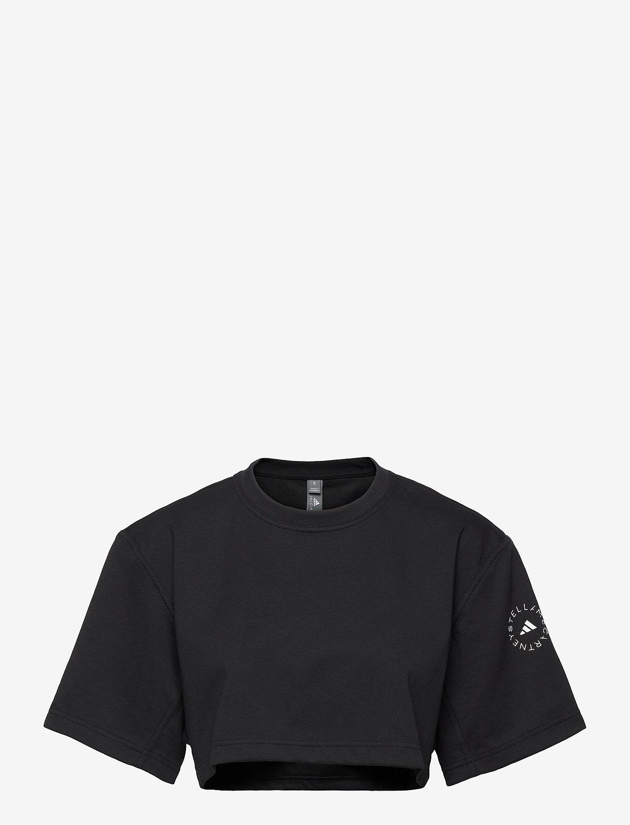 adidas by Stella McCartney - Future Playground Cropped T-Shirt W - toppe og t-shirts - black - 1