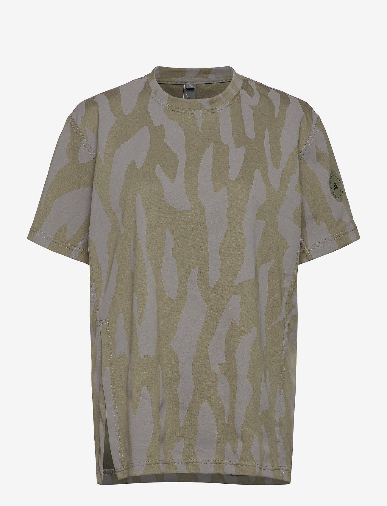 adidas by Stella McCartney - Future Playground T-Shirt W - t-shirts - clay/dovgry - 0