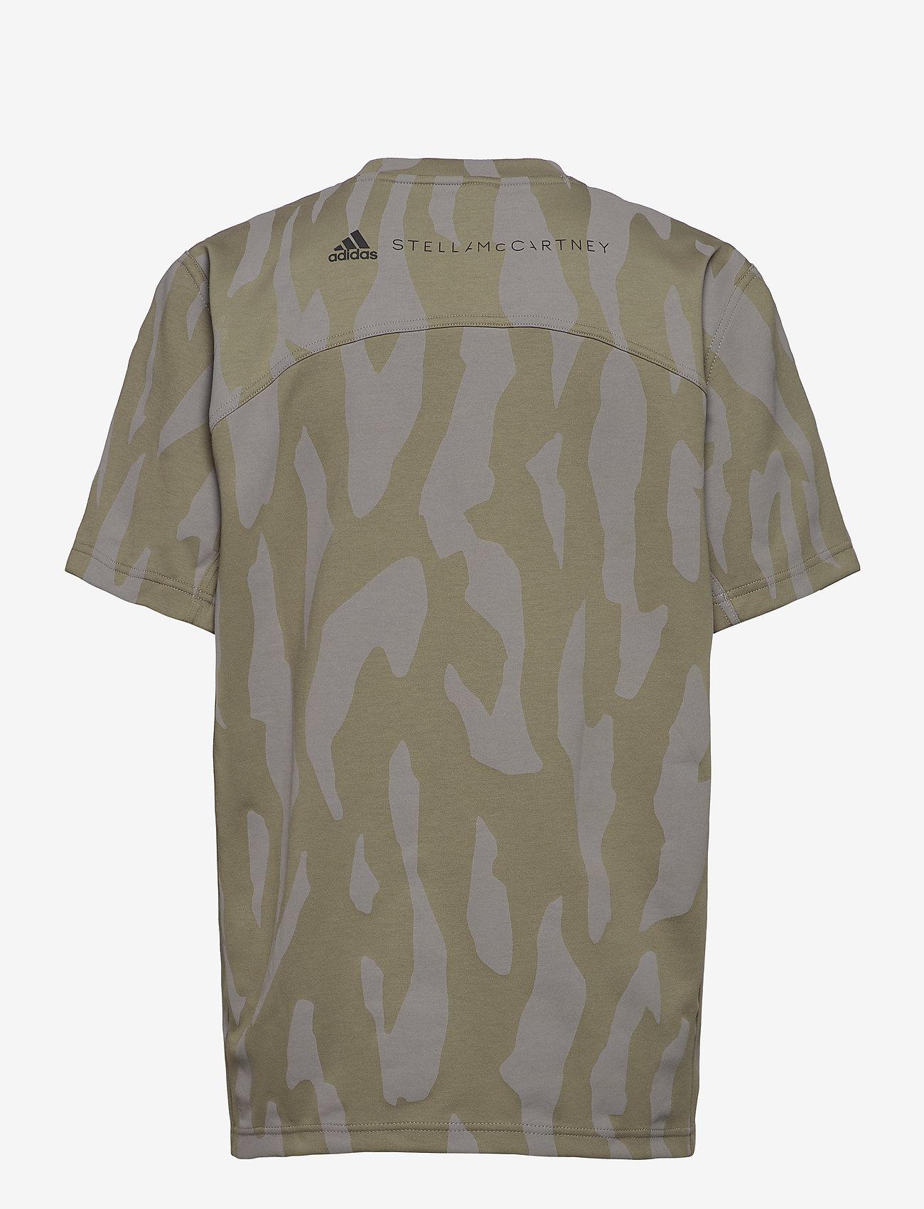 adidas by Stella McCartney - Future Playground T-Shirt W - t-shirts - clay/dovgry - 1