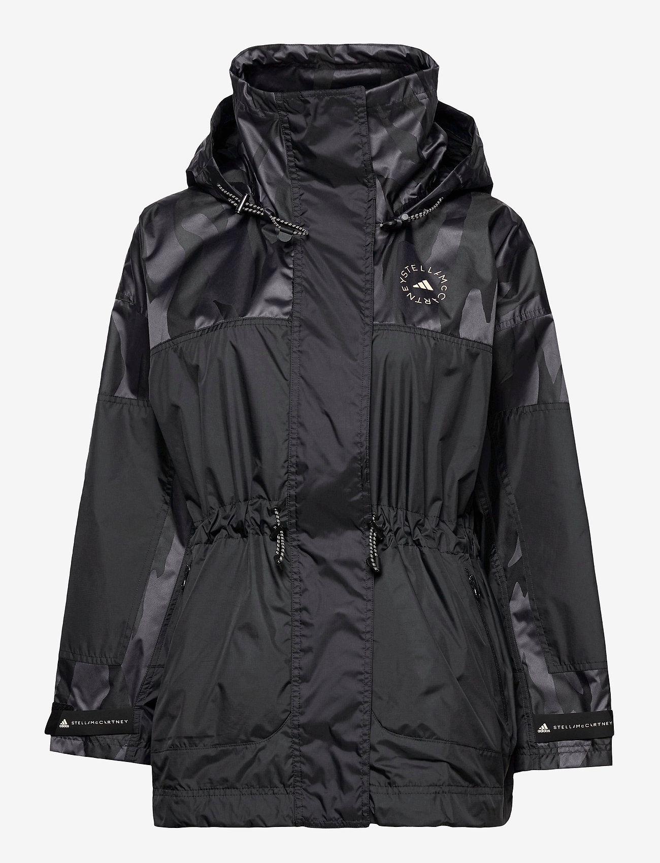 adidas by Stella McCartney - TruePace Jacquard Jacket W - parka coats - black - 1