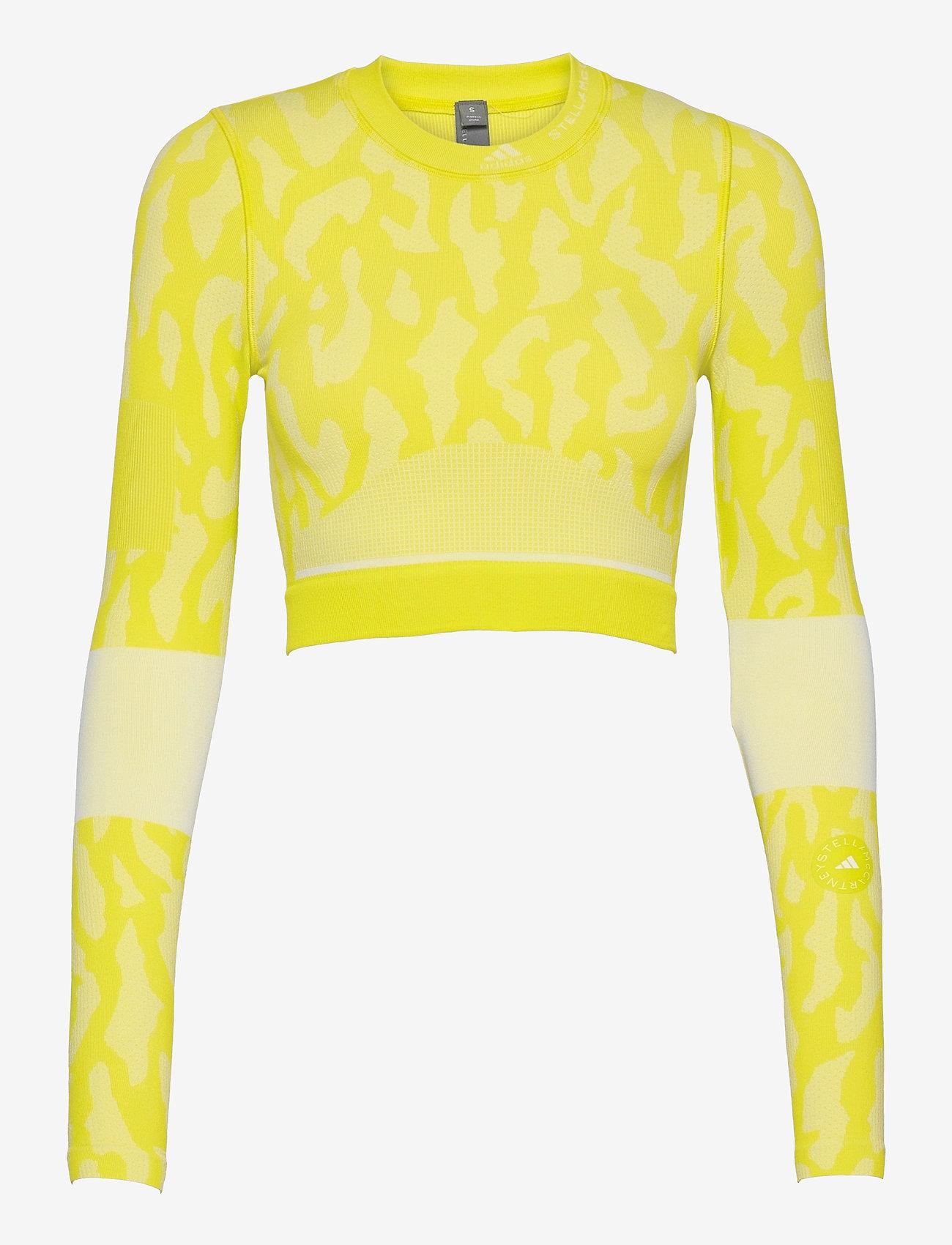 adidas by Stella McCartney - TruePurpose Seamless Crop Top W - crop tops - aciyel/white - 1