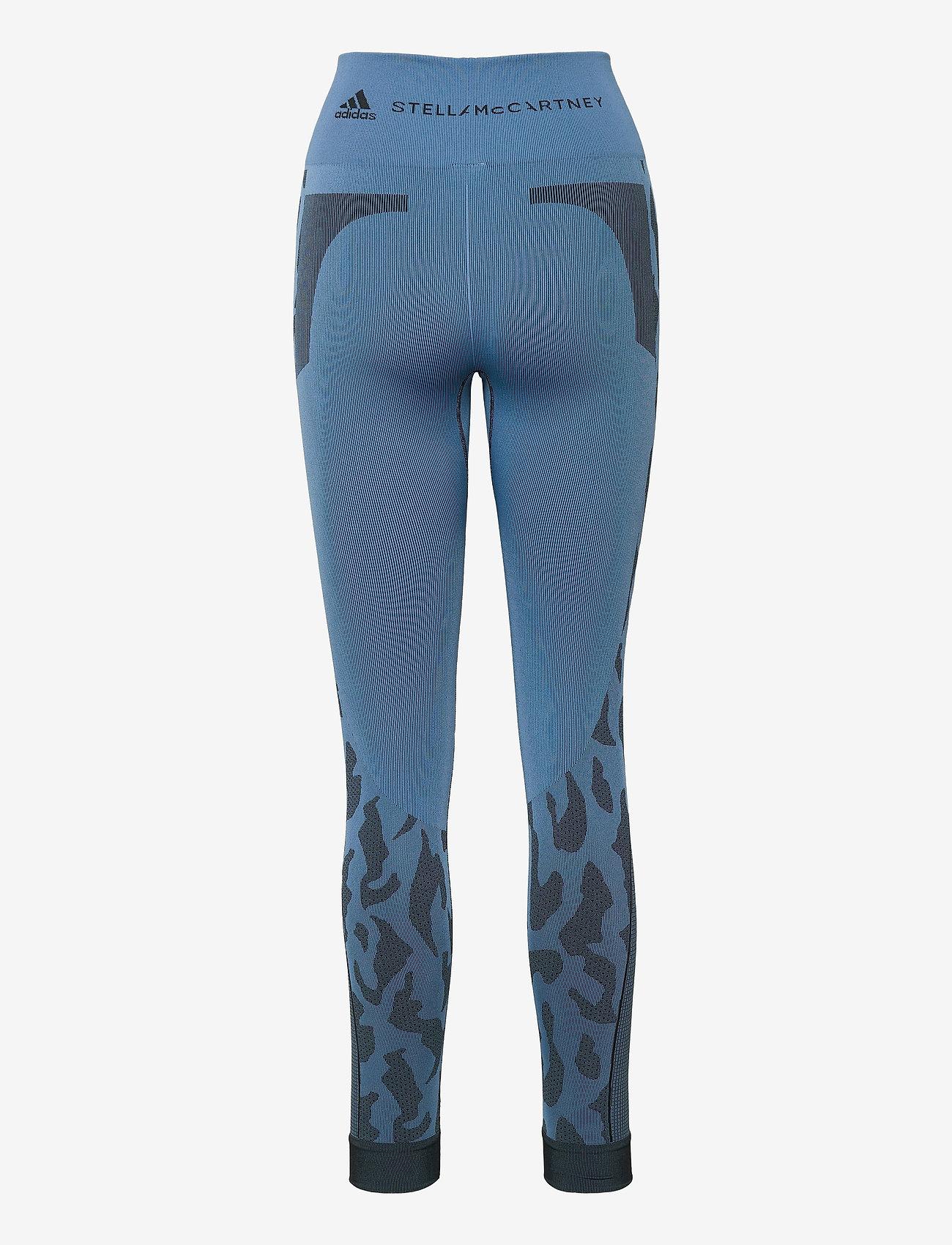 adidas by Stella McCartney - TruePurpose Seamless Tights W - running & training tights - stoblu/black - 2