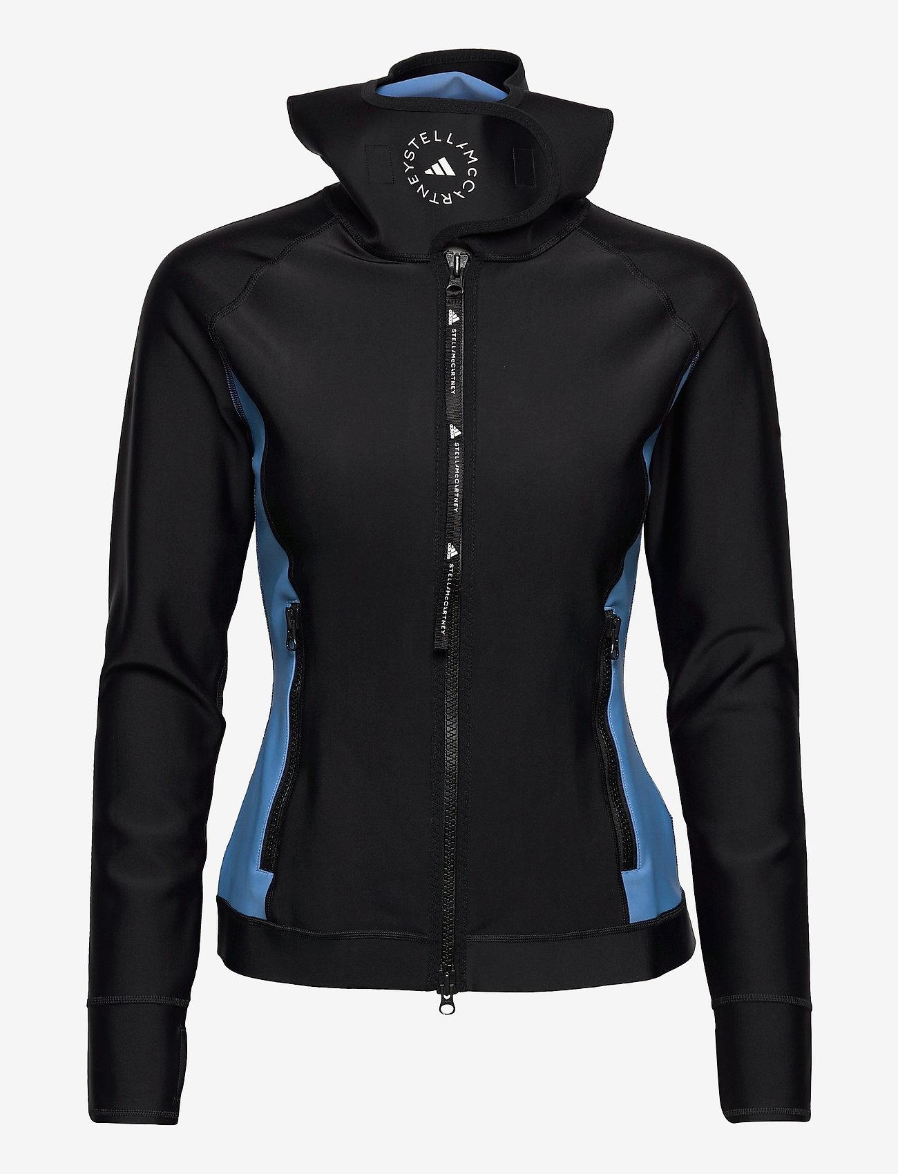 adidas by Stella McCartney - BeachDefender Midlayer Jacket W - sweatshirts & hoodies - black/stoblu - 1