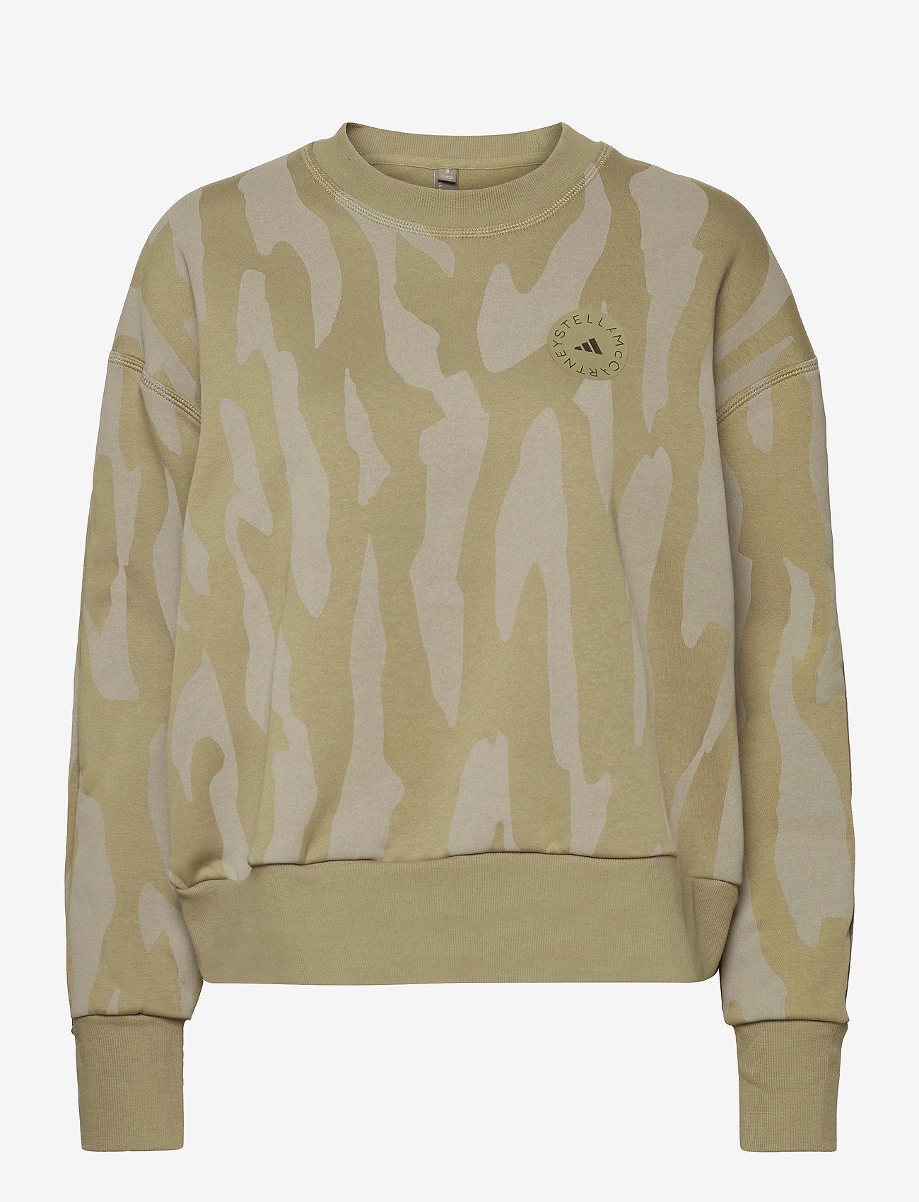 adidas by Stella McCartney - Sweatshirt W - sweatshirts & hoodies - clay/dovgry - 1