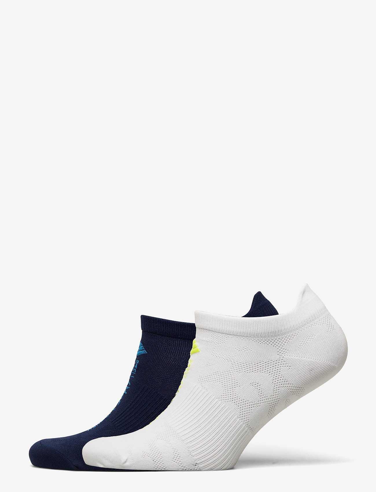 adidas by Stella McCartney - aSMC SOCKS - ankelstrumpor - white/aciyel/conavy/b - 0