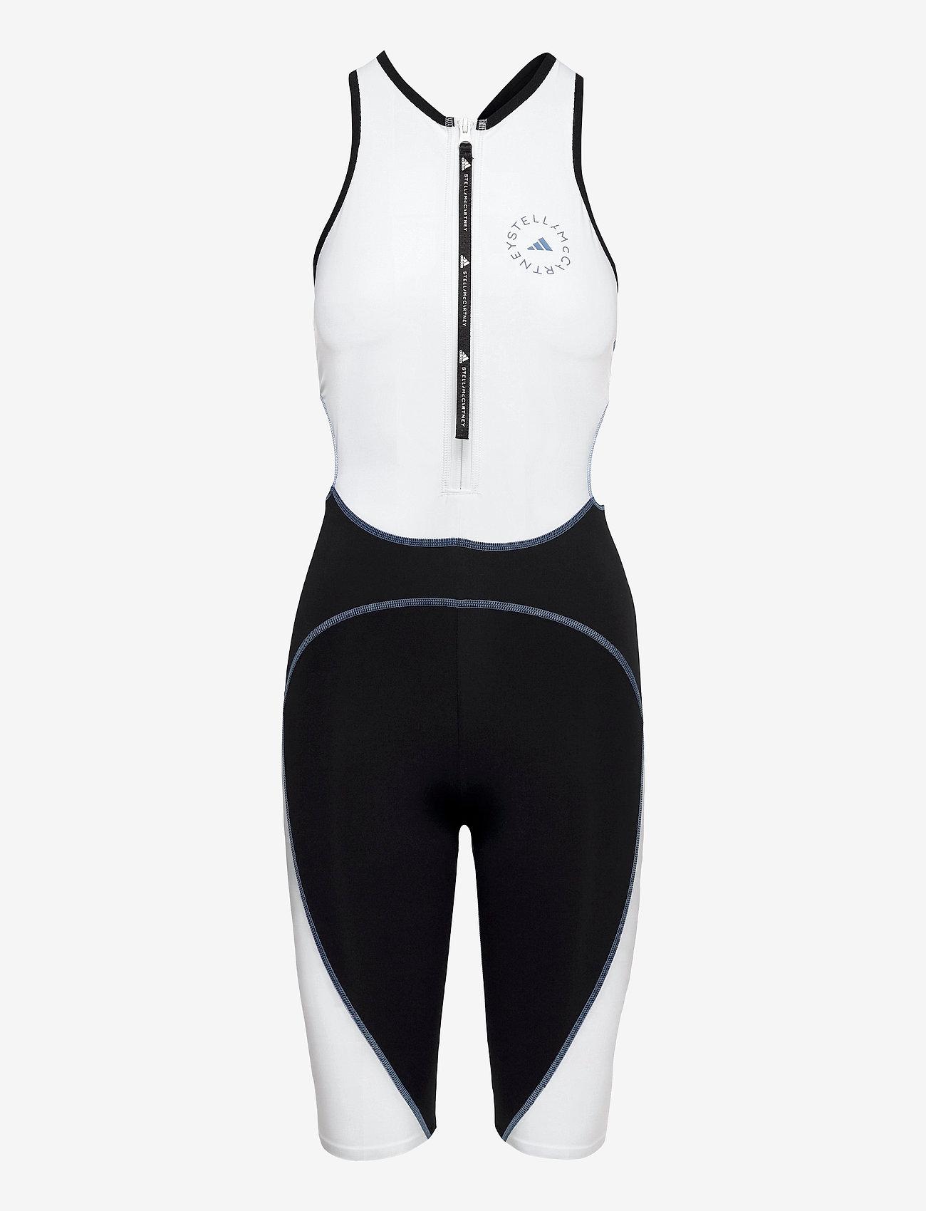 adidas by Stella McCartney - BeachDefender Trisuit W - sports swimwear - stoblu/black/white - 1