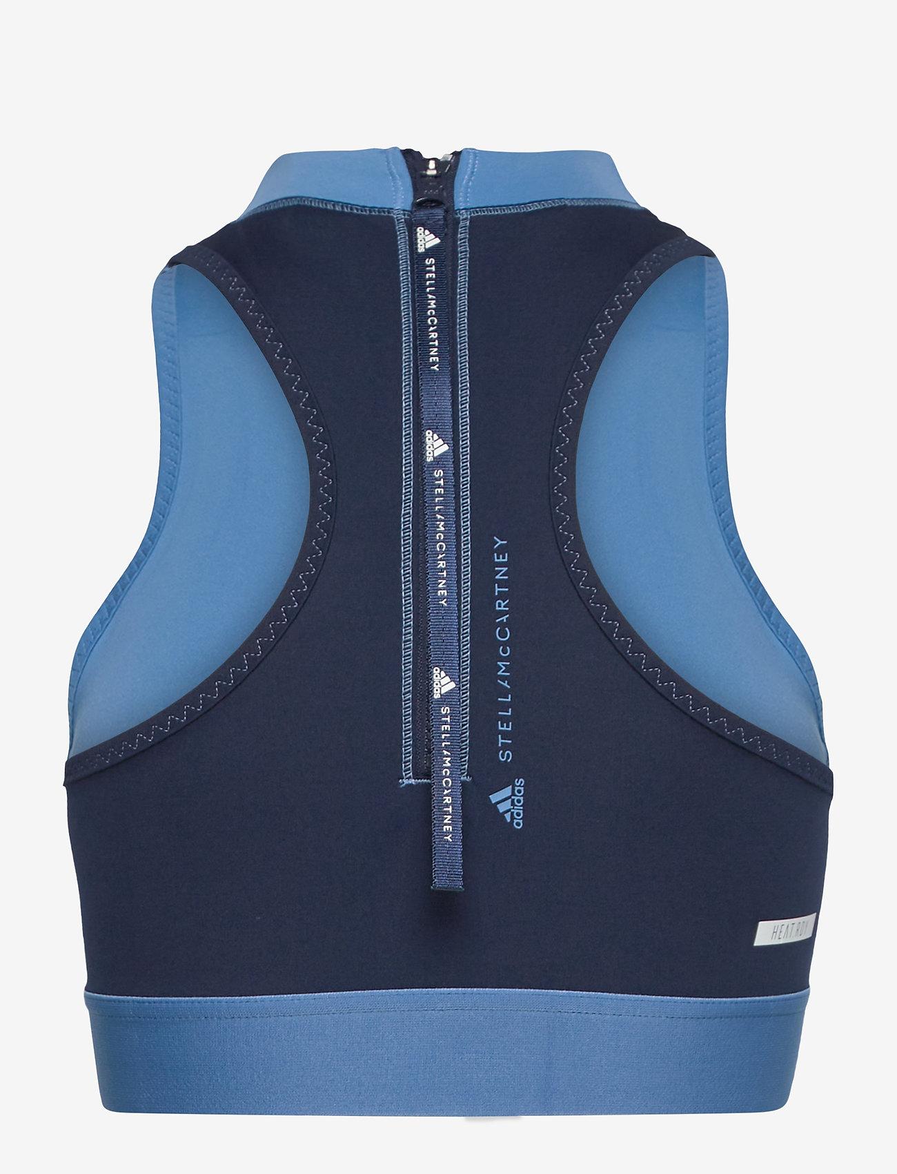 adidas by Stella McCartney - TruePace HEAT.RDY Primeblue Crop Top W - tops & t-shirts - stoblu/conavy - 2