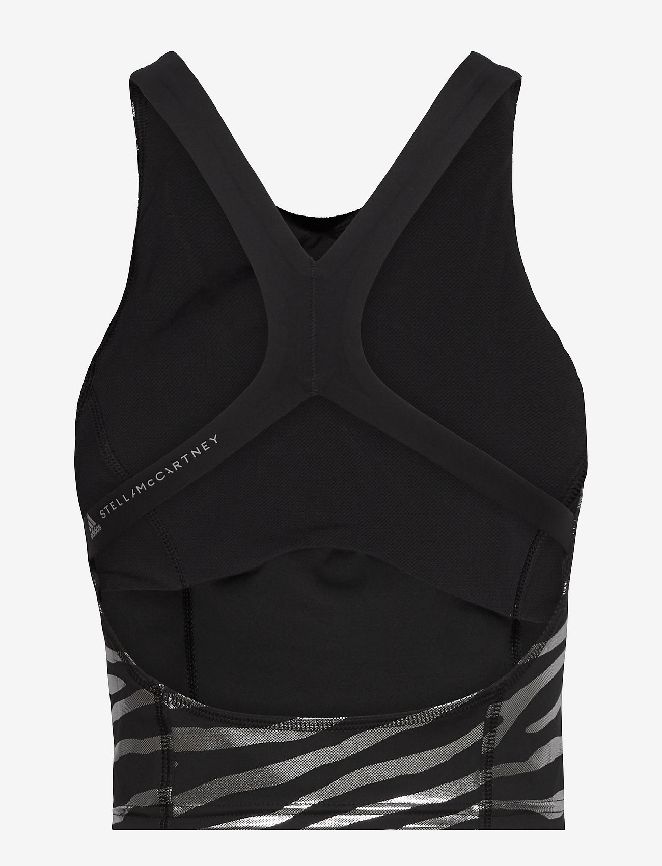 adidas by Stella McCartney - Print Crop Top W - crop tops - black/silvmt - 2