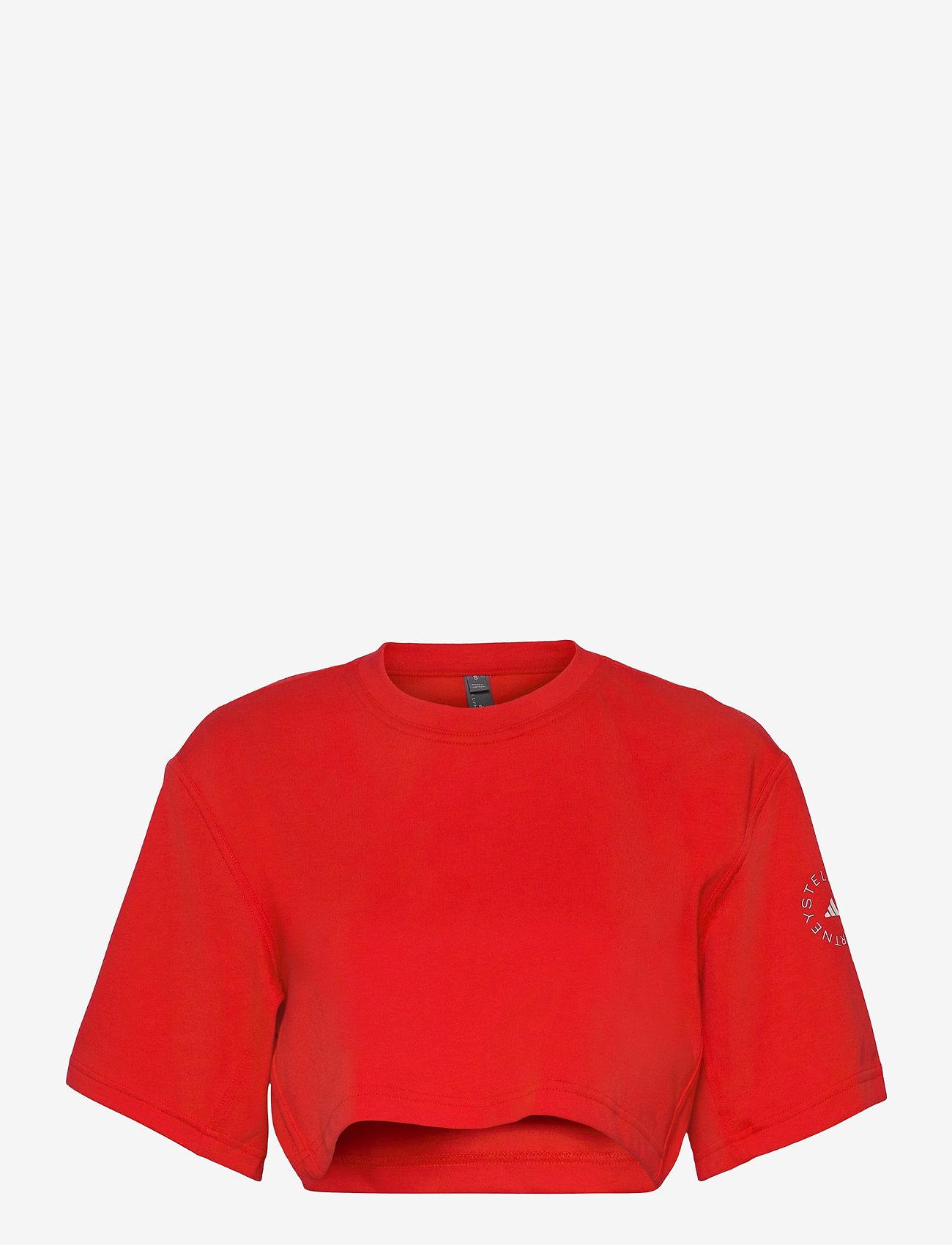 adidas by Stella McCartney - Future Playground Cropped T-Shirt W - tops & t-shirts - vivred - 1