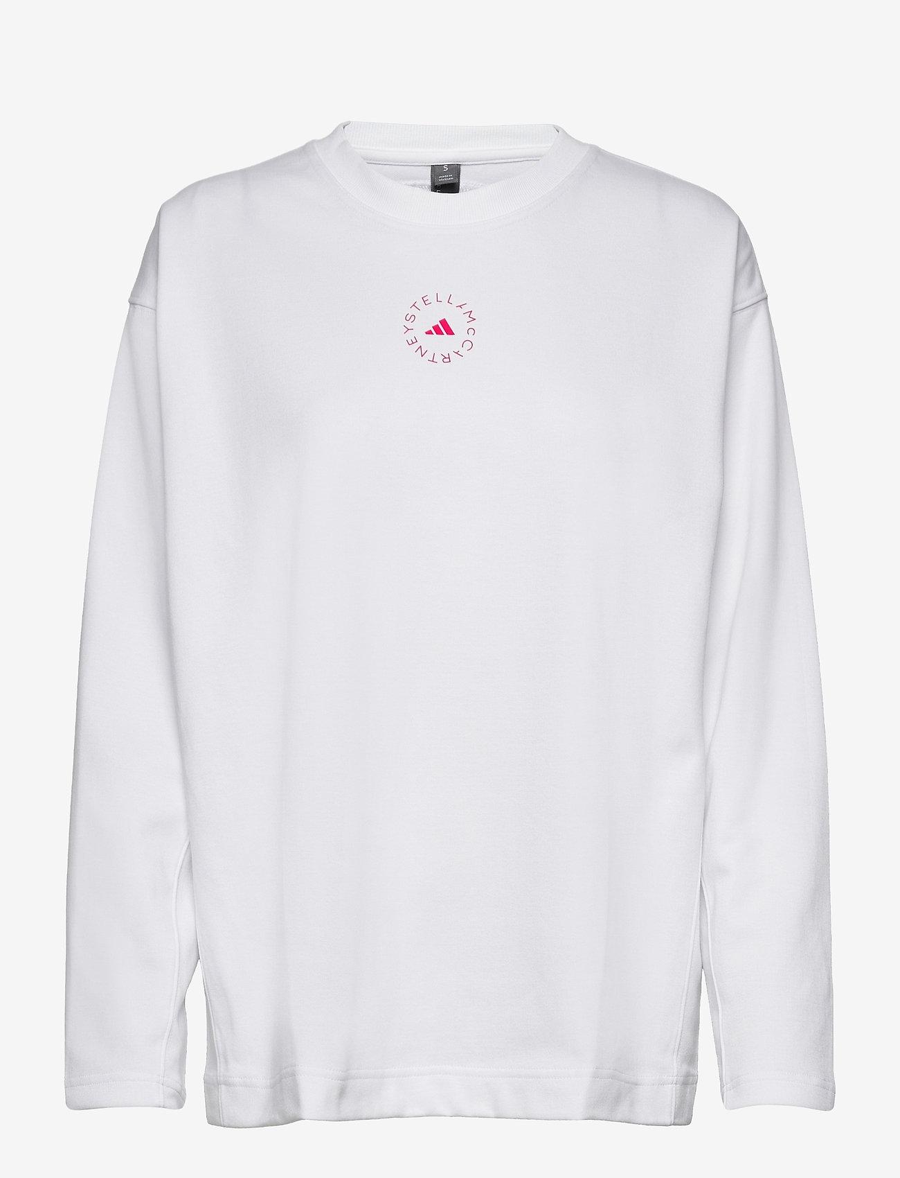 adidas by Stella McCartney - Cotton Long Sleeve Tee W - långärmade toppar - white - 1