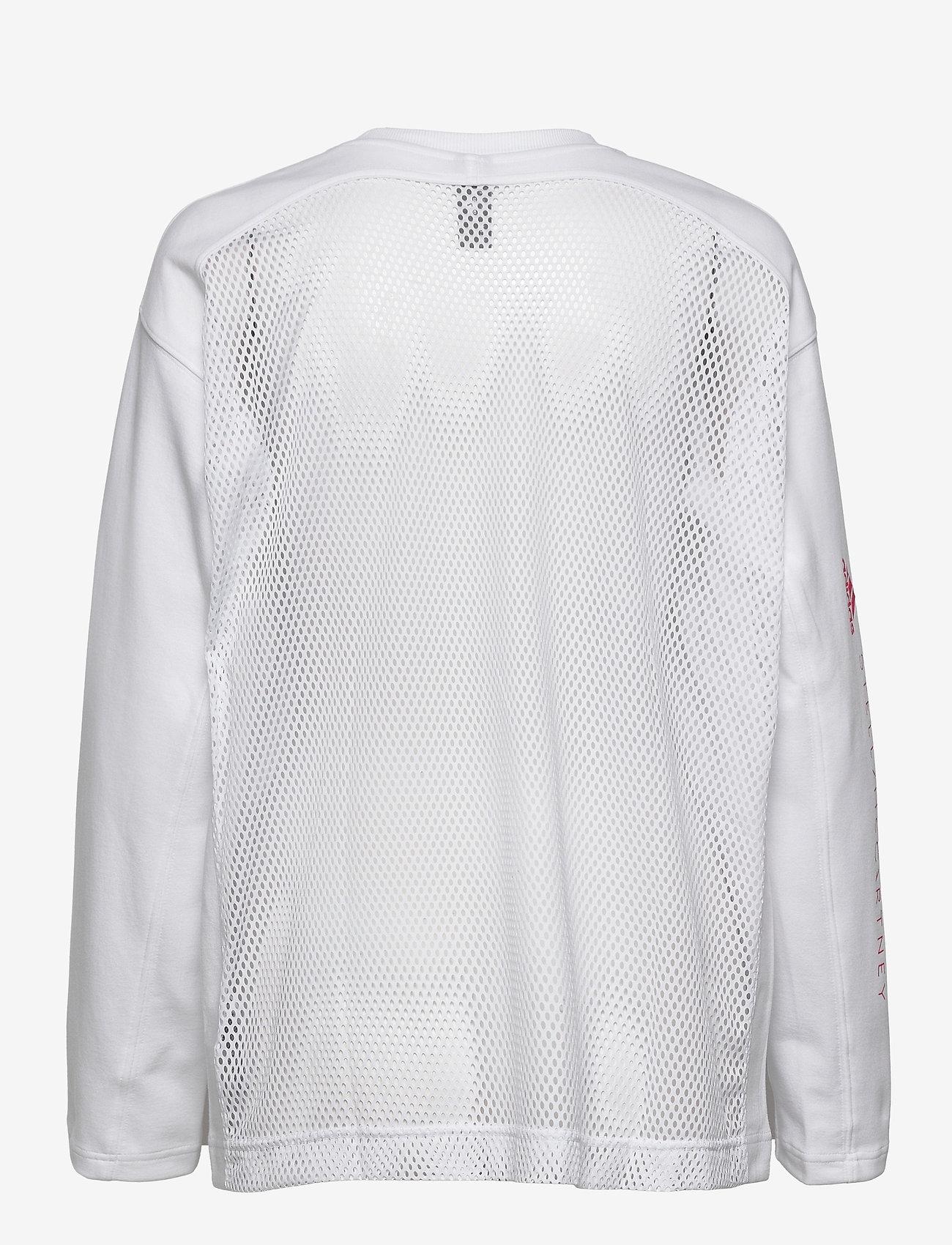 adidas by Stella McCartney - Cotton Long Sleeve Tee W - långärmade toppar - white - 2