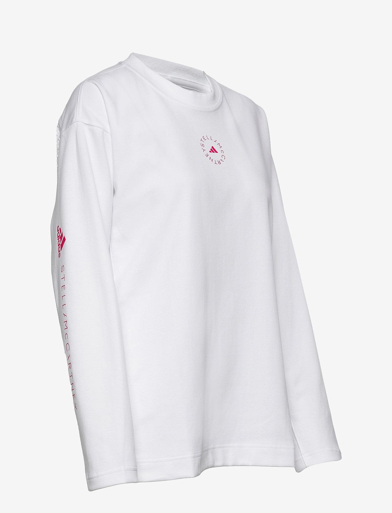 adidas by Stella McCartney - Cotton Long Sleeve Tee W - långärmade toppar - white - 3