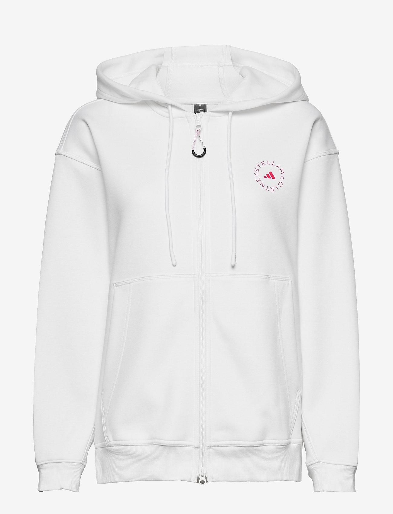 adidas by Stella McCartney - SC Full Zip Hoodie W - sweatshirts & hoodies - white - 0