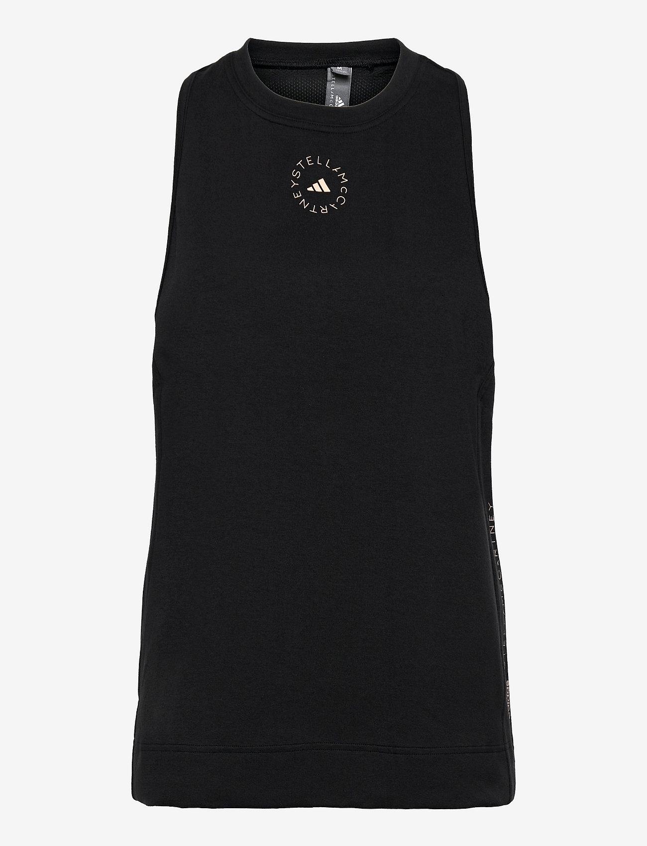 adidas by Stella McCartney - Cotton Tank Top W - linnen - black - 1