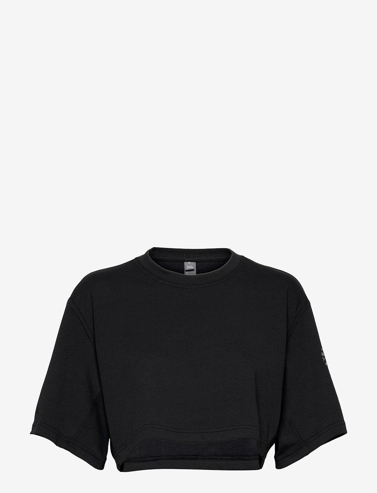 adidas by Stella McCartney - Future Playground Cropped Tee W - crop tops - black/sofpow - 0