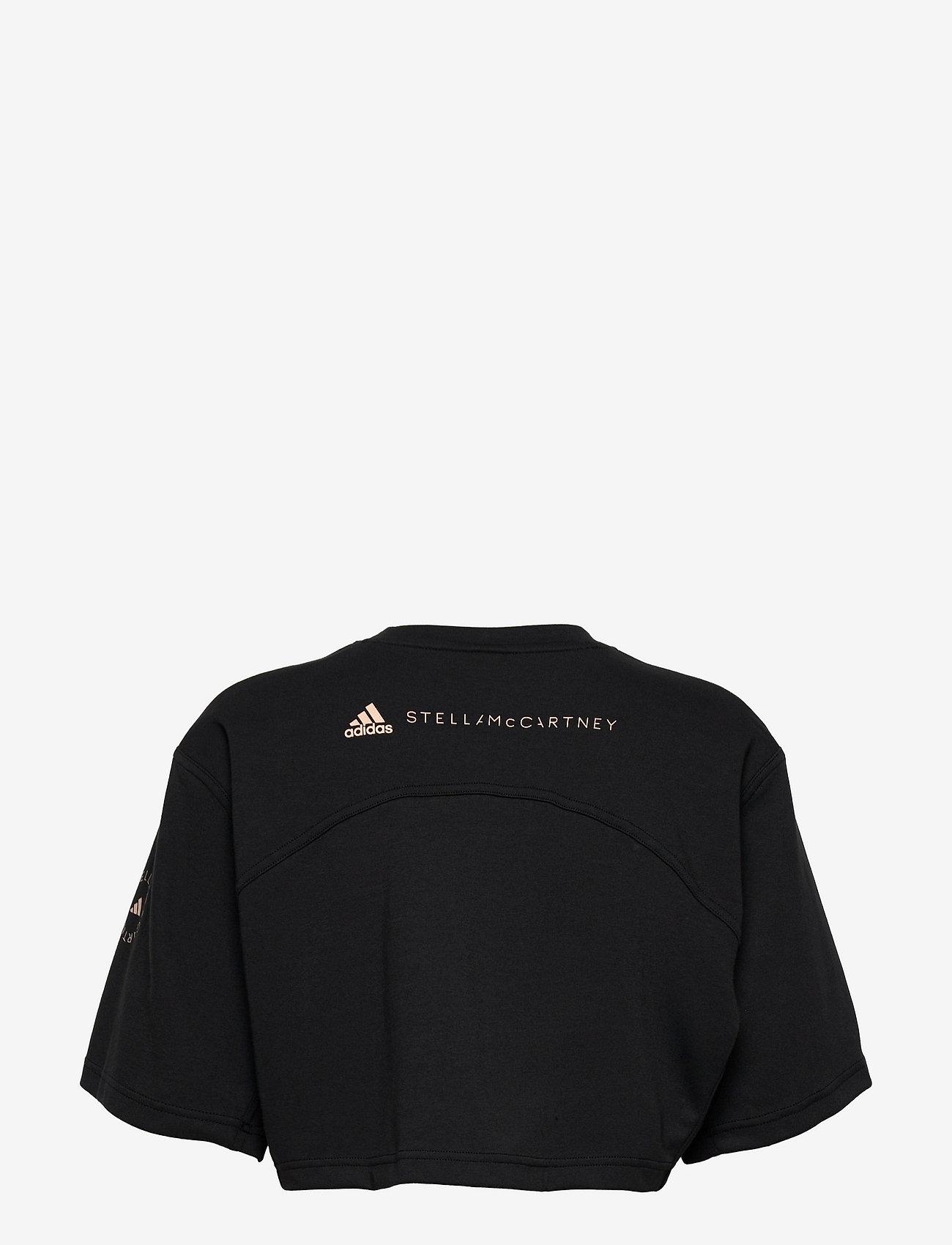 adidas by Stella McCartney - Future Playground Cropped Tee W - crop tops - black/sofpow - 1