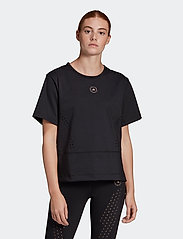 adidas by Stella McCartney - TrueStrength Loose T-Shirt W - t-shirts - black - 0