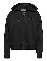 Full-Zip Cropped Hoodie W - BLACK