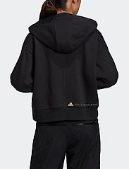 adidas by Stella McCartney - Full-Zip Cropped Hoodie W - collegepaidat ja hupparit - black - 3