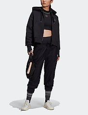 adidas by Stella McCartney - Full-Zip Cropped Hoodie W - collegepaidat ja hupparit - black - 4