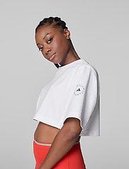 adidas by Stella McCartney - Future Playground Cropped T-Shirt W - toppe og t-shirts - white - 0