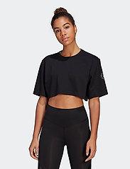 adidas by Stella McCartney - Future Playground Cropped T-Shirt W - toppe og t-shirts - black - 0