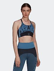 adidas by Stella McCartney - TruePurpose Seamless Bra W - sport bras: low support - stoblu/black - 0