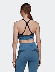 adidas by Stella McCartney - TruePurpose Seamless Bra W - sport bras: low support - stoblu/black - 3