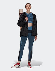 adidas by Stella McCartney - TruePurpose Seamless Crop Top W - tops & t-shirts - stoblu/black - 4