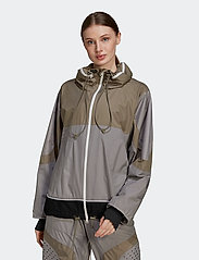 adidas by Stella McCartney - Training Suit Jacket W - träningsjackor - dovgry/clay/black - 0