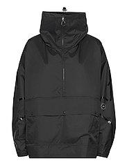 Half-Zip Mid-Length Jacket W - BLACK