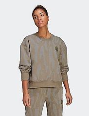 adidas by Stella McCartney - Sweatshirt W - sweatshirts & hoodies - clay/dovgry - 0