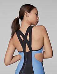 adidas by Stella McCartney - BeachDefender Trisuit W - sports swimwear - stoblu/black/white - 3