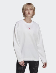 adidas by Stella McCartney - Cotton Long Sleeve Tee W - långärmade toppar - white - 0