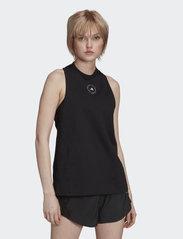 adidas by Stella McCartney - Cotton Tank Top W - linnen - black - 0