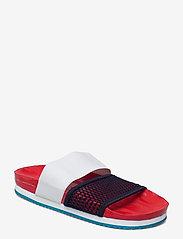 adidas by Stella McCartney - aSMC Lette - platta sandaler - vivred/conavy/stoblu - 0