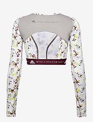 adidas by Stella McCartney - Future Playground Long Sleeve Crop Top W - tops & t-shirts - clowhi/pnktin/aciyel/ - 2