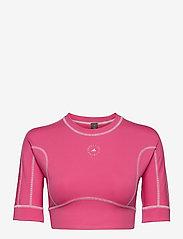 adidas by Stella McCartney - TrueStrength Yoga Crop Top W - tops & t-shirts - sopink - 0