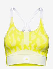 adidas by Stella McCartney - TruePurpose Seamless Bra W - sport bras: low - aciyel/white - 1