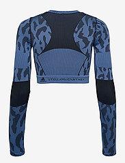 adidas by Stella McCartney - TruePurpose Seamless Crop Top W - tops & t-shirts - stoblu/black - 2