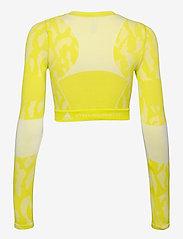 adidas by Stella McCartney - TruePurpose Seamless Crop Top W - crop tops - aciyel/white - 2