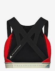 adidas by Stella McCartney - BeachDefender Bikini Top W - bikini tops - black/vivred/stoblu - 2
